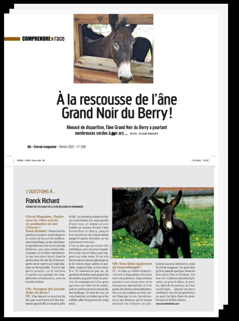 Article cheval magazine - Clos de beltaine