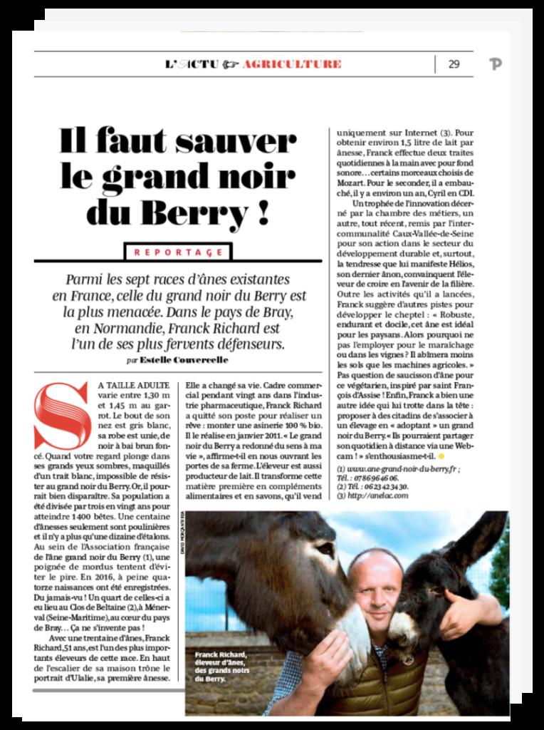 L'Âne Grand Noir du Berry menacé d'extinction
